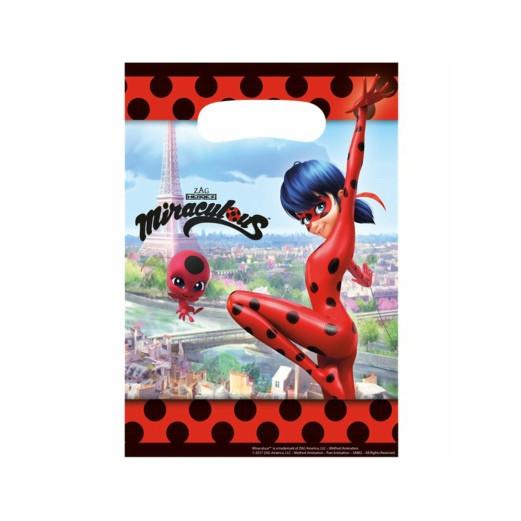 Miraculous Ladybug   Partytüten 23 x 16.5 cm - 8 Stück
