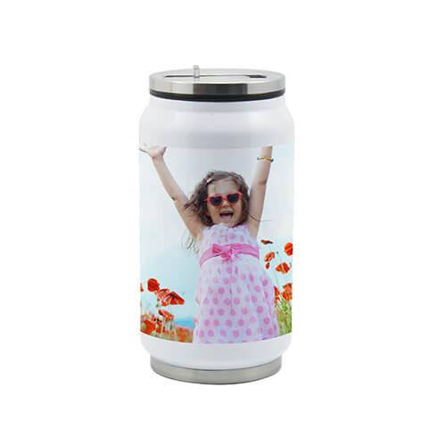 Dose mit Trinkhalm 350 ml | Fotodruck