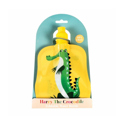 Faltbare Kinder Flasche | Krokodil | 200 ml
