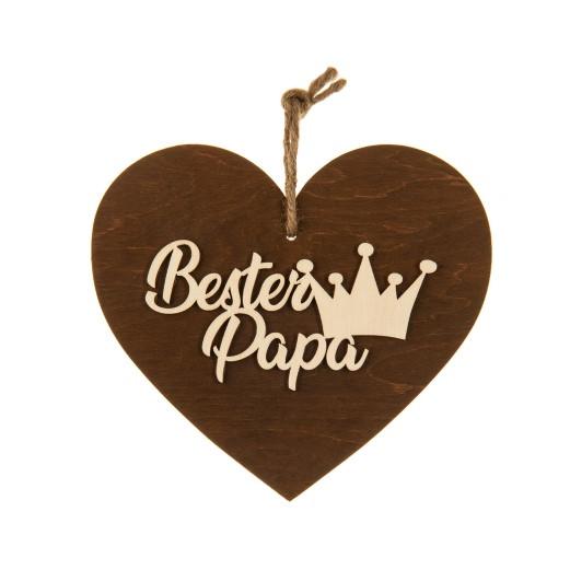 3-D Holzherz «Bester Papa»