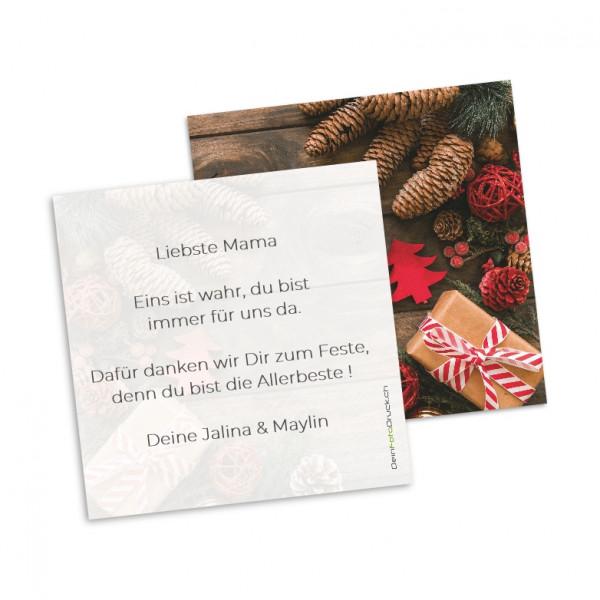 Grusskarte «Weihnachten» inkl. Grusstext
