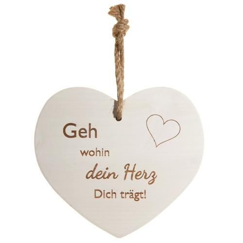 Vintage-Herz «Geh wohin dein Herz..»