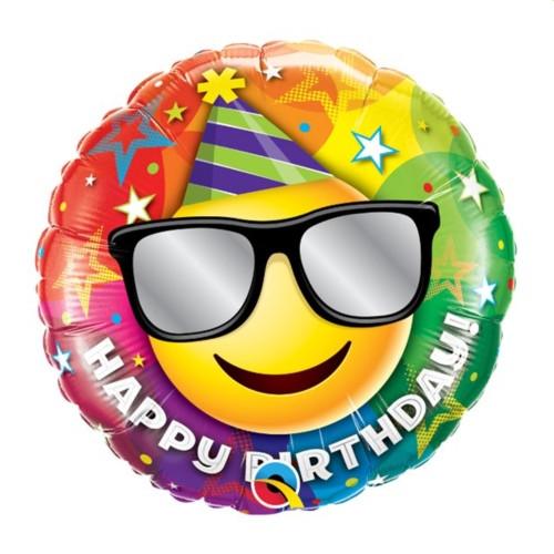 Smiley B-Day | Heliumballon 46 cm - befüllt